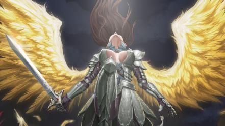 Angels fantasy art artwork wallpaper