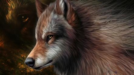 Animals artwork drawings wolves wild wallpaper