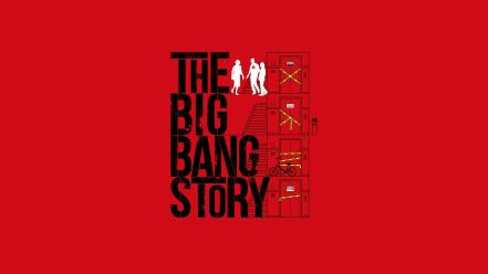 Bang theory (tv) artwork simple background red wallpaper