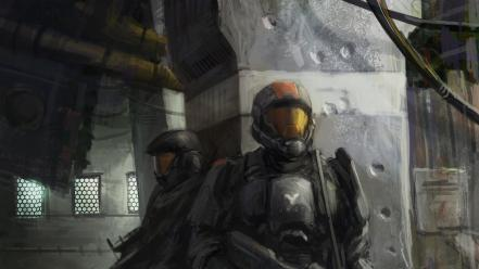 Digital art concept science fiction artwork odst wallpaper
