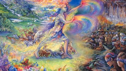 Fantasy paintings art dreams josephine wall mystical wallpaper