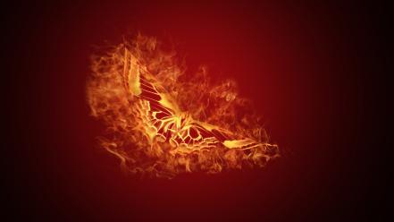 Fire butterflies wallpaper