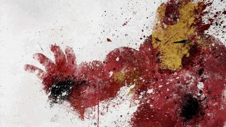 Iron man paintwork Wallpaper