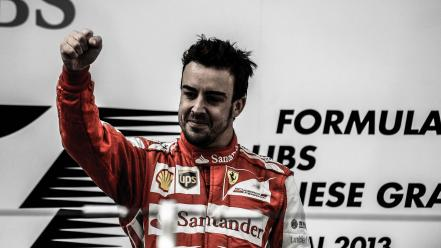 One victory fernando alonso shangai grand prix wallpaper