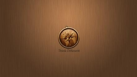Think different brands logos apple world logo Wallpaper