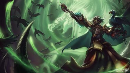 Video games league of legends artwork swain wallpaper