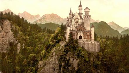 Forests germany ancient medieval rivers neuschwanstein keep wallpaper
