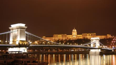 Hungary budapest chain bridge wallpaper