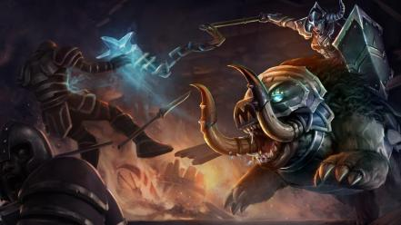 League of legends frost moba sejuani game wallpaper