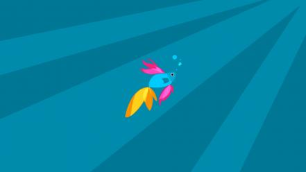 Minimalistic fish digital art artwork windows 8.1 wallpaper