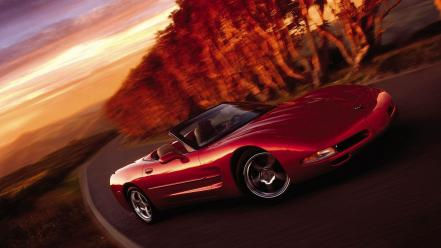 Sunset cars chevrolet auto automobile wallpaper