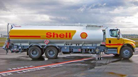 Trucks shell tankers vehicles petroleum wallpaper
