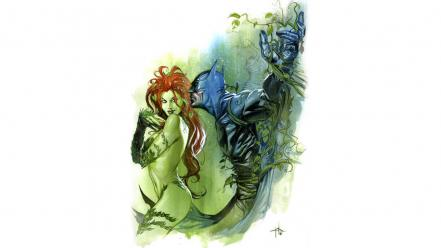 Batman dc comics poison ivy fan art movies wallpaper