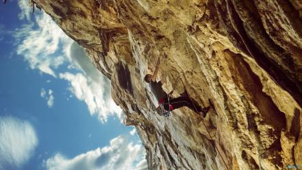 Mountains sports rock climbing wallpaper