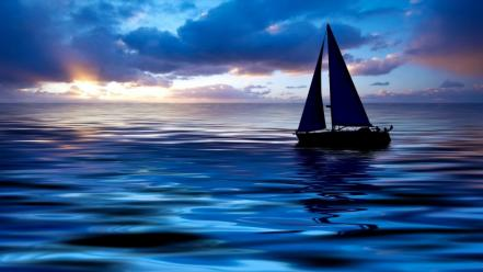 Ships sailing sea wallpaper