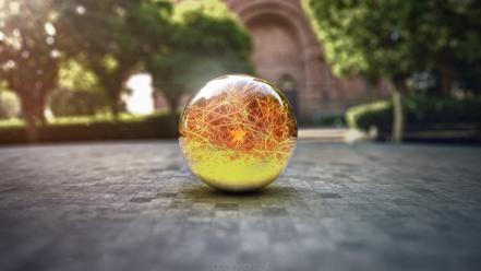 Spheres objects 3d dragonball rendering wallpaper