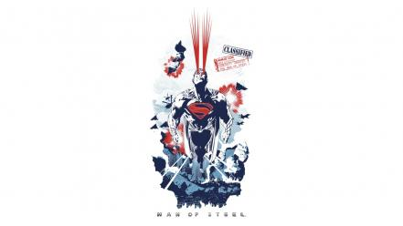 Steel superman fan art movies white background wallpaper