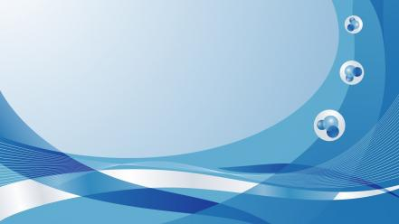 Abstract blue vector swirls graphics Wallpaper