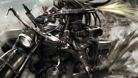 Casings sidecar bangs black spas-12 original characters wallpaper