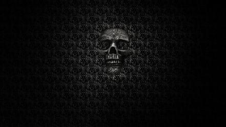 Dark skull background wallpaper