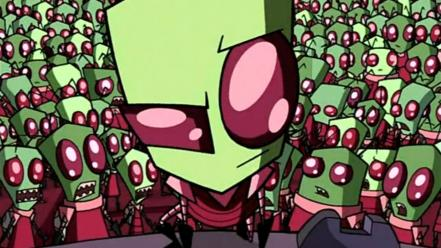 Invader zim crowd red eyes aliens Wallpaper