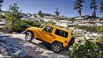 Jeep wrangler yellow cars wallpaper