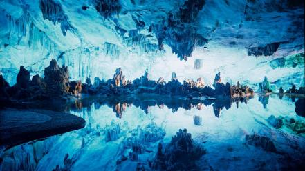 National geographic blue cavern lakes nature wallpaper