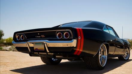 Old muscle cars dodge charger rt vintage car wallpaper