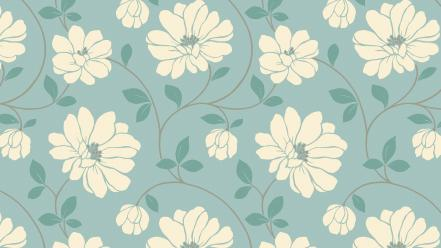 Backgrounds blue floral flowers lines wallpaper