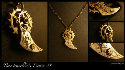 Clockwork machinery pendant steampunk technology wallpaper