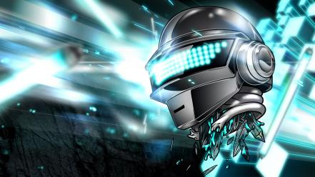 Dj daft punk thomas bangalter tron blue wallpaper