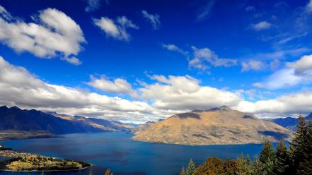 Hills new zealand lakes hdr photography queenstown Wallpaper