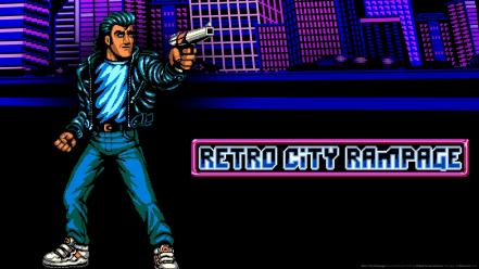 Hommage retro city rampage 8-bit old school wallpaper