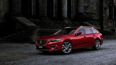 Mazda 6 race red cars wallpaper