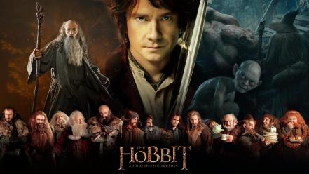 Mckellen movie posters martin freeman bilbo baggins wallpaper