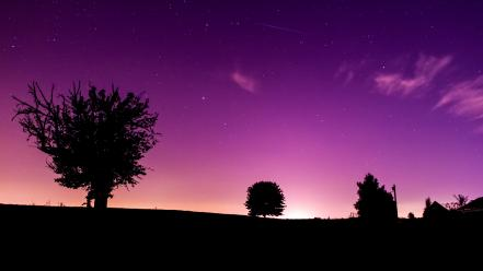 Purple night sky Wallpaper