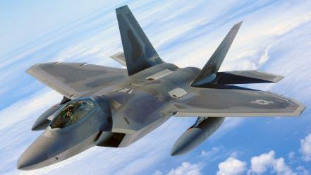 Aircraft army military f-22 raptor jets fighter wallpaper