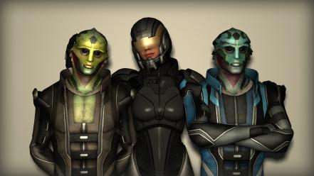 Aliens femshep mass effect 2 thane krios creatures wallpaper