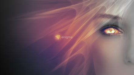 Amazingly simple linux abstract enigma eyes wallpaper
