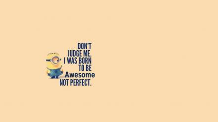 Awesomeness minion simple background wallpaper