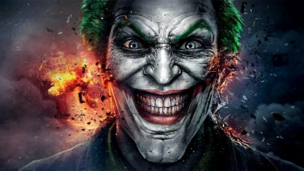 Batman the joker artwork fan art wallpaper