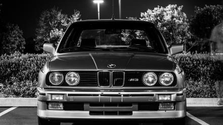 Bmw m3 e30 black and white wallpaper