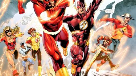 Dc comics flash superhero kid heroes wallpaper