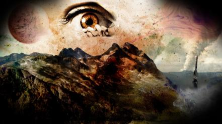 Fantastic digital art eye eyes fantasy wallpaper