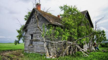 Farm old house Wallpaper