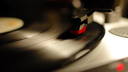 Vinyl gramophone playing music lp record Wallpaper