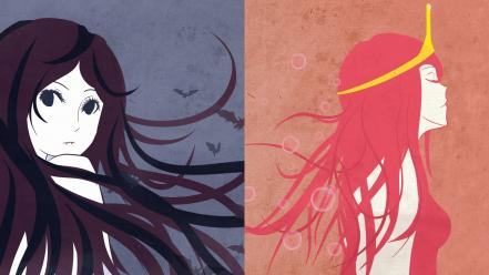 Adventure time marceline the vampire queen princess bubblegum wallpaper