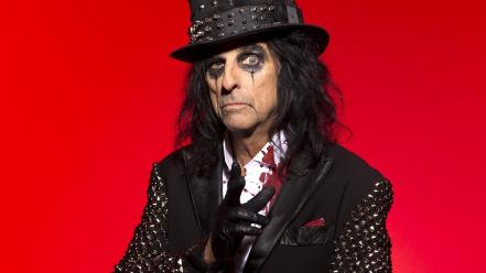 Alice cooper red background wallpaper