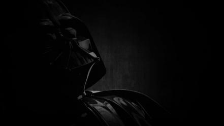 Darth vader star wars monochrome portraits wallpaper
