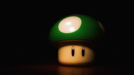 Green super mario mushrooms wallpaper